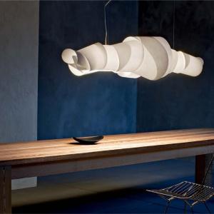 Niesamowita lampa Jamaica od Foscarini,  papier pokryty wysokiej jakości powłoka polimerową. Fot. Heban