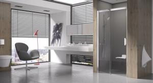 Seria kabin Matrix z systemem przesuwu, z minimalną ilością elementów z tworzywa sztucznego zaprojektowana została z myślą omniejszych łazienkach.