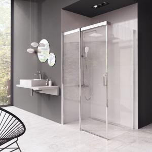 Kabina prysznicowa Ravak MSDPS (wariant ze ścianką stałą, wejście z przodu) – rozmiar od 100/80 do 120/90 cm, L/R, cena od 3.260 zł. Fot. Ravak