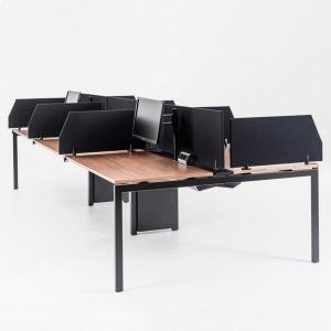 Seria stołów Nexus daje możliwość łatwego dostosowania w zależności od potrzeb i sposobu użytkowania. Seria ta cechuje się elastycznością, co oznacza, że sprawdzi się w przypadku różnych zastosowań w zależności od sposobu i środowiska pracy. Fot. Kinnarps.