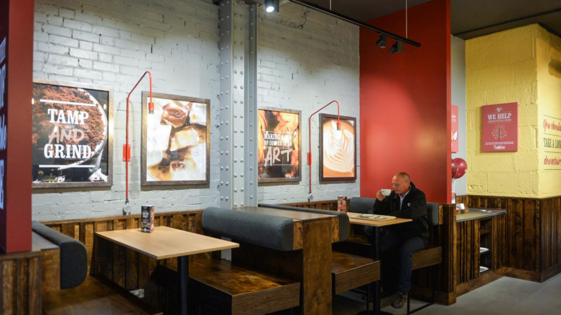 Costa Coffee, Design Atlas, UK - nowa aranżacja, fot. materiały prasowe Costa Coffee.