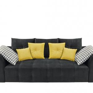 Sofa Royal Black Red White.