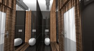 Jakie są wnętrza glamour? To wnętrzaniezwykle ozdobne, pełne blasku i przepychu.Zobaczcie pomysł na aranżację WC.