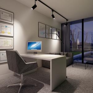 Miejsce do pracy lub nauki zaprojektowano niezwykle funkcjonalnie.