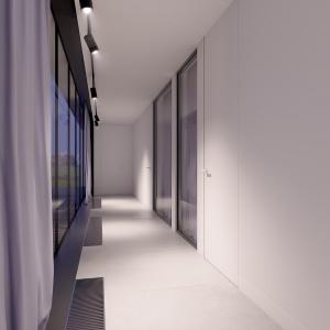 Kolorystyka wnętrz jest bardzo spójna, poczynając od salony a kończąc na komunikacji.