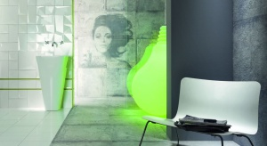 W swojej kolekcji dla Grupy Tubądzin projektant wyraża minimalizm i nowoczesność za pomocą szarej, surowej płytki, a dynamizm i otwartość symbolizują interesujące dekory ścienne.