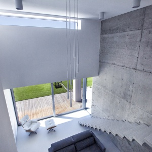 Elementy oświetlenie i nowoczesne meble zostały dobrane ze szczególną starannością. Fot. BXBstudio Bogusław Barnaś