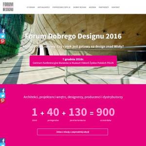 Forum Dobrego Designu z nową stroną