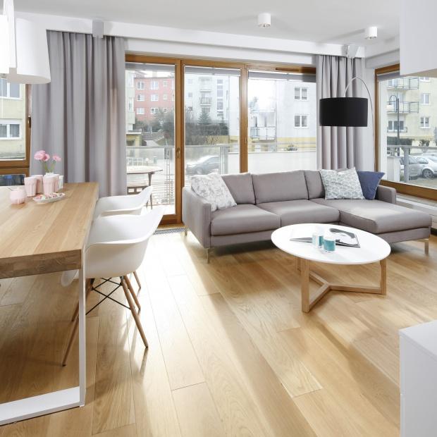 Mieszkanie w szarościach - piękne wnętrze z Trójmiasta