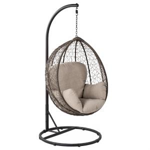 MOON to fotel wiszący, który zapewni błogi wypoczynek na balkonie, dla wszystkich, którzy uwielbiają beztroskie bujanie. 999 zł. Fot. Leroy Merlin