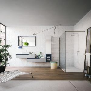 Tworząc kolekcję Urban architekt Enrico Cesana zinterpretował na nowo ścięte pod kątem 45° stopni krawędzie frontów tworząc nową estetykę dla łazienkowych mebli. Fot. Artesi