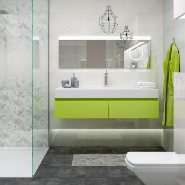 Letni klimat w kolorowej łazience