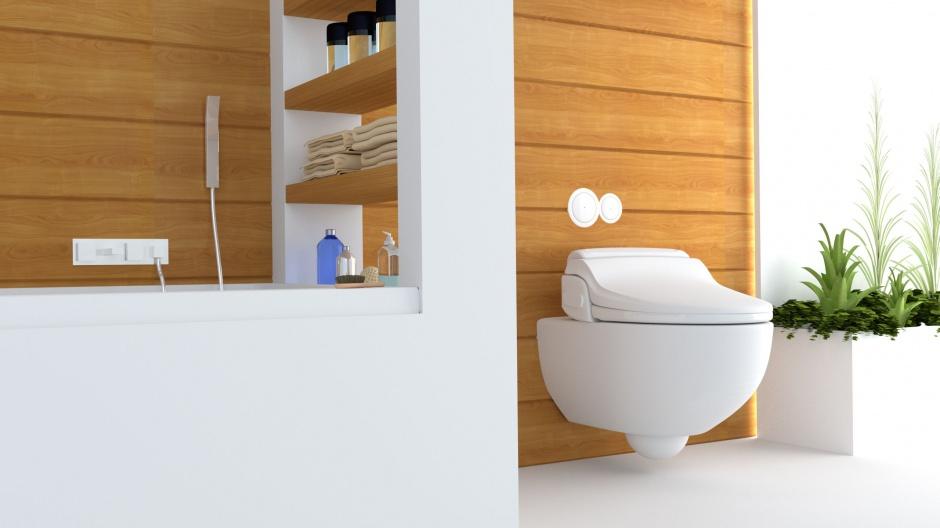Automatyczna deska myjąca BioBidet BB-1000 Supreme: wśród funkcji m.in. 3 programy mycia, suszenie, z podgrzewaną wolno opadająca deskę i pilotem zdalnego sterowania, menu w języku polskim; dostępna w dwóch rozmiarach. 2.690 zł. Fot. BioBidet