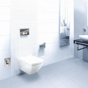 JOMO TAHARAT HYGIENIC to toaleta (do wybory miska WC Berlin lub London) z funkcją bidetu, deską wolno opadająca z systemem SoftClose oraz uniwersalne płyty przyciskowe; indywidualna regulacja dyszy bidetu. 3.075 zł. Fot. Jomo /Werit