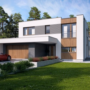 Zobacz jak urządzono ten jasny piętrowy dom