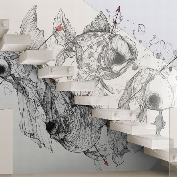 Dekoracja ścian. Sprawdź, jak wyglądają artystyczne grafiki ścienne
