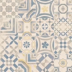 Idealne do wnętrz w stylu vintage: płytki ceramiczne CEMENTINE o powierzchni imitującej beton ozdobione są wzorami łączącymi motywy florystyczne i geometryczne, które stanowią interpretację tradycyjnych, włoskich dekoracji. Na zamówienie. Fot. Keope Ceramiche