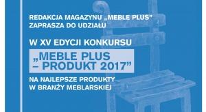 """Rozpoczęła się już XV edycja konkursu """"Meble Plus – Produkt Roku"""". Zapraszamy do udziału i zgłaszania produktów w 16 kategoriach konkursowych. Podsumowanie konkursu i uroczyste wręczenie statuetek i wyróżnień odbędzie się podczas Forum"""