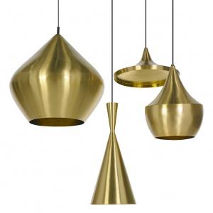 Kształty lamp z serii BEAT inspirowane są tradycyjnymi metalowymi naczyniami do noszenia wody, które można spotkać w każdym domu i na targu w Indiach. Wykonane z mosiądzu, przez rzemieślników na północy Indii. Fot. Tom Dixon