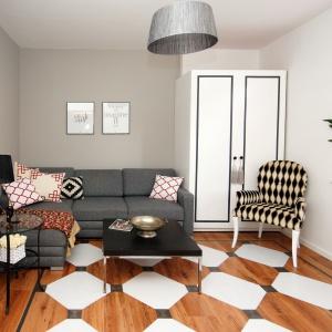 Cała metamorfoza trwała zaledwie weekend. Tyle czasu wystarczyło, aby niewielki pokój gościnny zmienił się w prawdziwy mini salon. Fot. blog Pani to potrafi