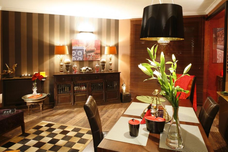 Mieszkanie w stylu orientalnym. Projekt: Monika Kantor. Fot. Bartosz Jarosz
