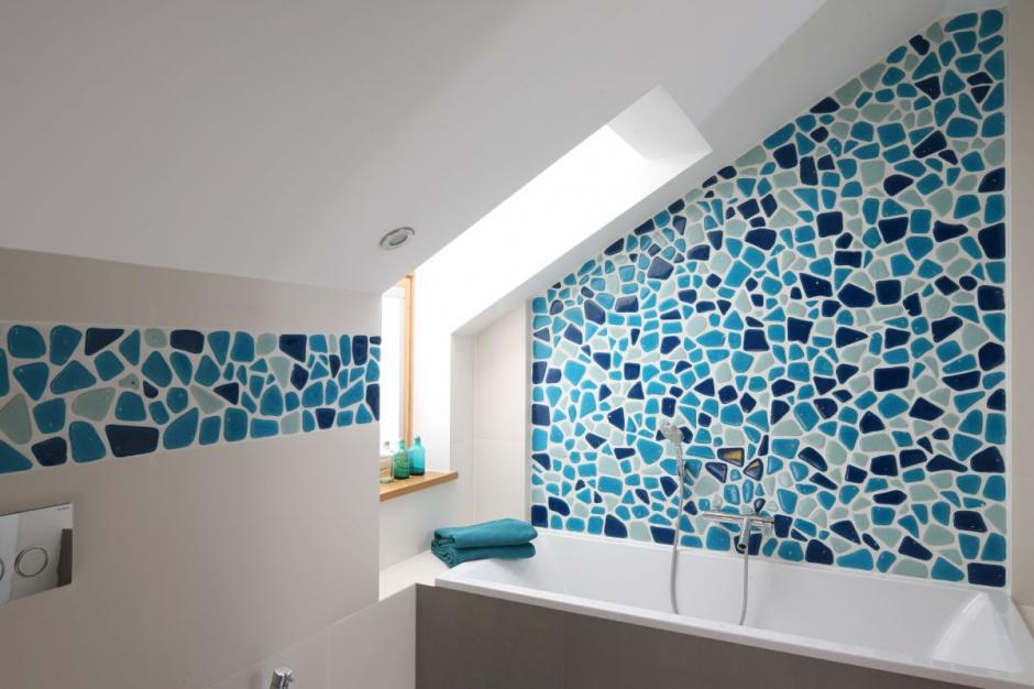 Mozaika może przybierać też mniej regularne kształty. Projekt: Małgorzata Galewska, Fot. Bartosz Jarosz