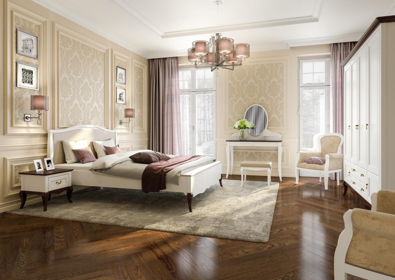 Sypialnia w stylu glamour: kolekcja Wiktoria. Fot. Mebin