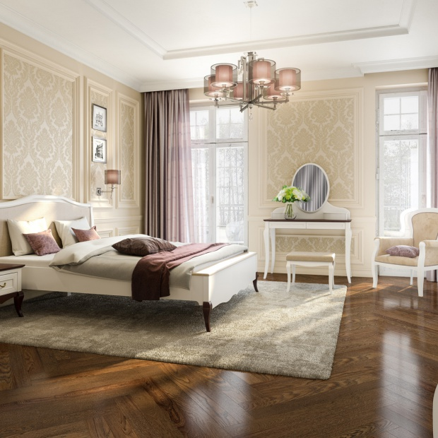 Sypialnia w stylu glamour - wybieramy toaletkę