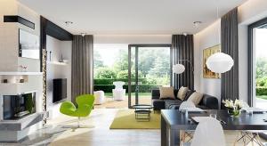 Układ pomieszczeń w tym 140-metrowym domu zaplanowano tak, aby zapewnić domownikom maksimum prywatności oraz jak największy dostęp do światła słonecznego.