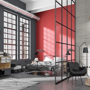Sypialnia w klimacie loft to propozycja aranżacji w męskim stylu. Fot. Magnat