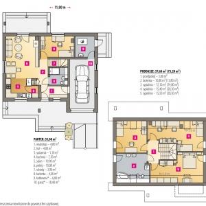 Rzuty domu. Projekt: arch. Maja Klimowicz, Fot. Dom Dla Ciebie – Pracownia Projektowa Archeco