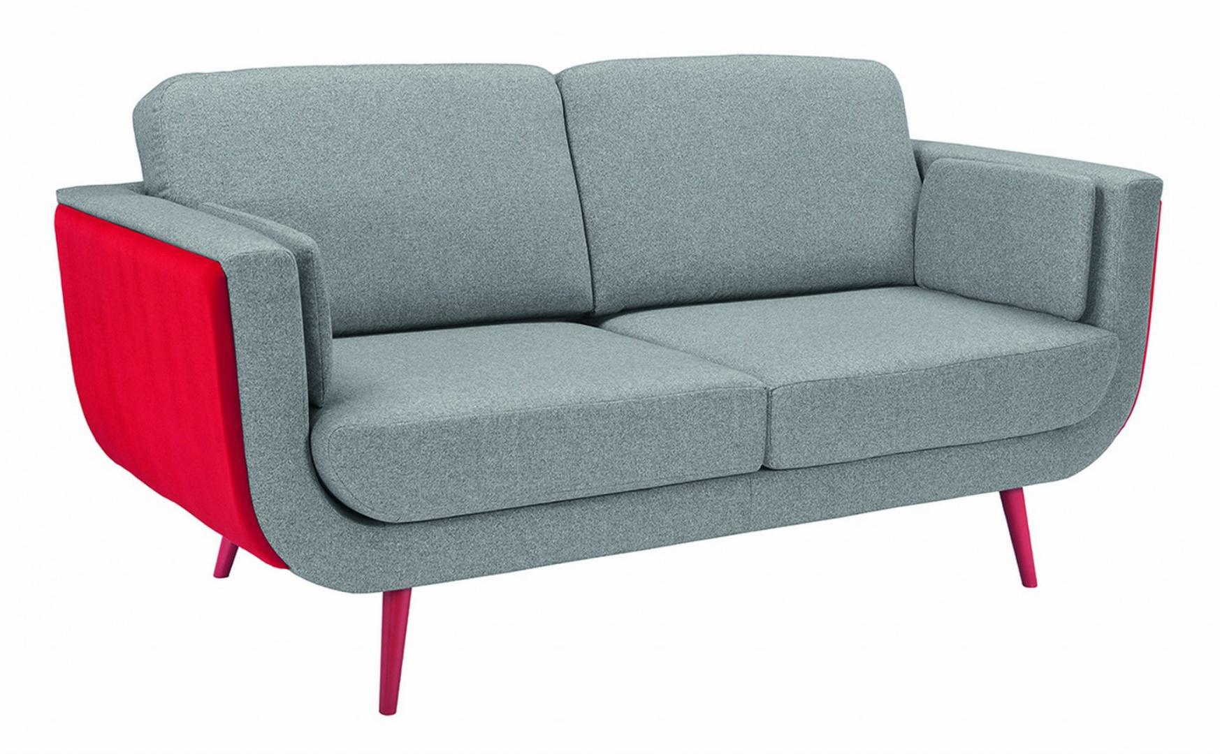 Sofa Possi Light/Black Red White