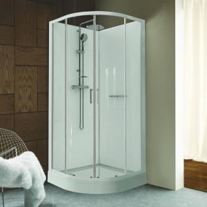 Kabina prysznicowa kompletna narożna półokrągła KCKP4/clii/Sanplast