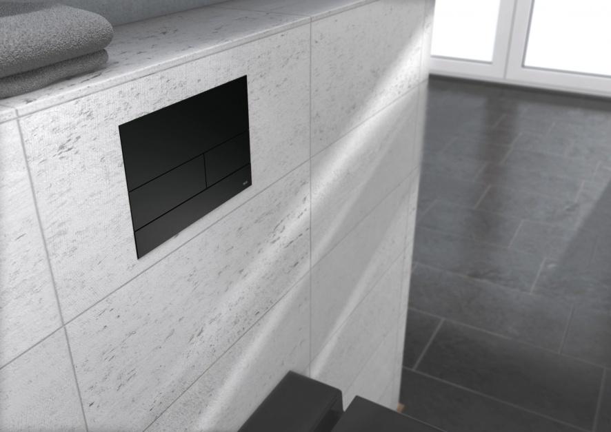 Przycisk spłukujący w kolorze czarnym matowym - TECEsquare II/Tece