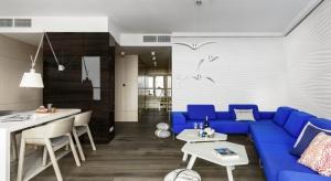 Apartament z widokiem na port gdyński i Skwer Kościuszki zlokalizowany został na 12.piętrze budynku Sea Tower. Zobaczcie jak pięknie się prezentuje.