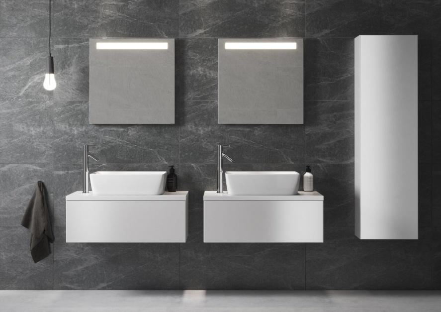 Wyposażenie sanitarne oraz szafki z serii Splendour Opoczno/Rovese