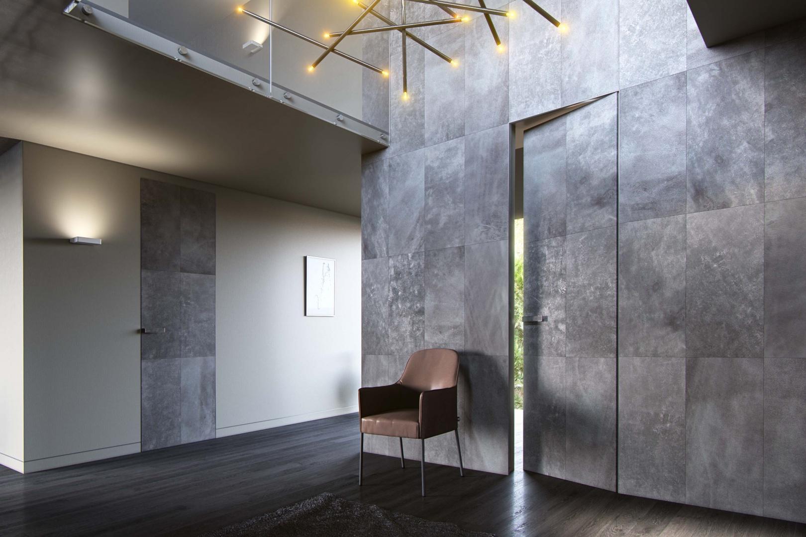 Drzwi z kolekcji skóra Graf - PIU Aluminium Line/Piu Design