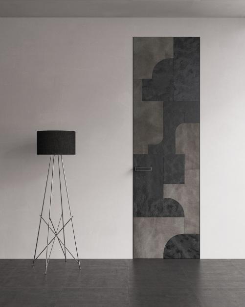 Drzwi z kolekcji skóra Modern - PIU Aluminium Line/Piu Design