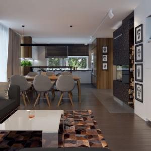 Wnętrze domu jest otwarte, przestronne i pozwala na dużą dowolność aranżacyjną. Proj. Nowik, Fot. Archetyp