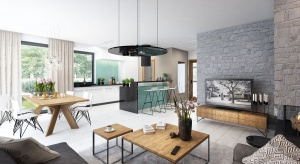 Tris II to piękny dom z poddaszem użytkowym. Klasyczna forma domu kryje w sobie niezwykle funkcjonalne i nowoczesne wnętrza.