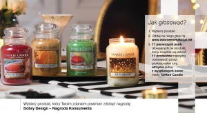 Cały czas trwagłosowanie dla konsumentów w konkursie Dobry Design 2017. Wybierz najlepszy zgłoszony produkt i zdobądź jedną z wyjątkowych świec marki Candle Yankee.
