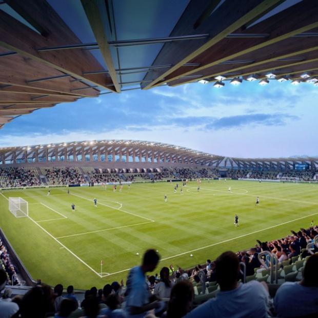 Pracownia Zaha Hadid Architects zaprojektowała stadion z drewna