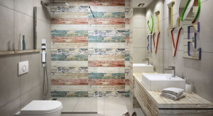 Choć stylu loft dominująca jest zazwyczaj szarość, nie oznacza to bynajmniej, że taka łazienka zawsze musi być wyłącznie szara i surowa w odbiorze. Sprawdźcienasz pomysł na nowoczesną aranżację z odrobiną koloru.