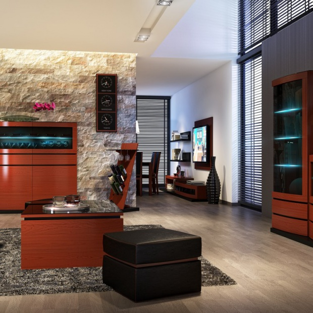 Salonowe aranżacje – meble a wykończenie ścian