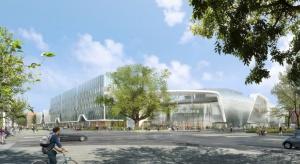 Konstrukcja wielofunkcyjnego budynku Wroclavia jest już gotowa. Do końca listopada wrocławski obiekt będzie w tzw. stanie surowym zamkniętym, co umożliwi rozpoczęcie prac wykończeniowych. Budynek został zaprojektowany przez biuro architektoniczne