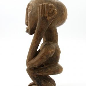 Unikatowa FIGURKA RYTUALNA z Konga wykonana została przez artystę z plemienia Lega. 275 zł. Fot. Etno Bazar