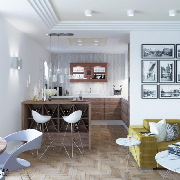 Mieszkanie w stylu Art déco. Gotowy projekt
