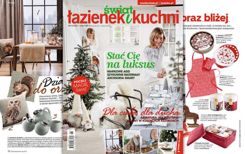 Najnowszy numer Świata Łazienek i Kuchni (6 2016) już w sprzedaży.