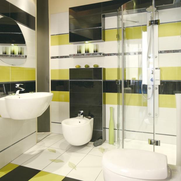 Urządzamy łazienkę - postaw na kolorową geometrię