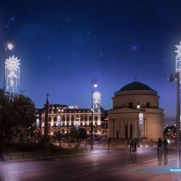 Na ulicach Warszawy rozbłyśnie świąteczna iluminacja